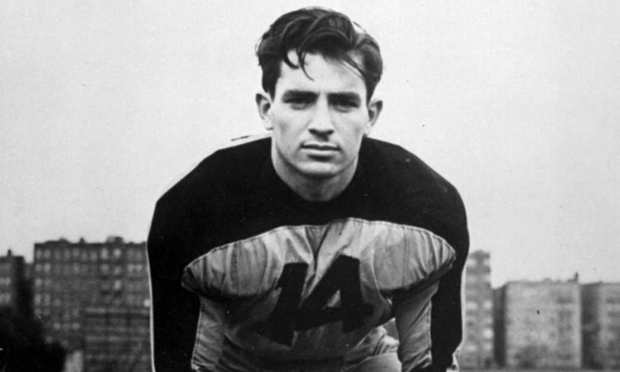 Jack Kerouac on the football field