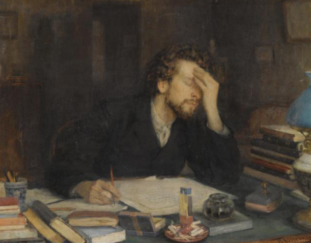 painting-of-writer